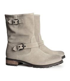 H&M velour leather boots