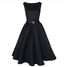 Women's Boat Neck Swing Audrey Retro Dress