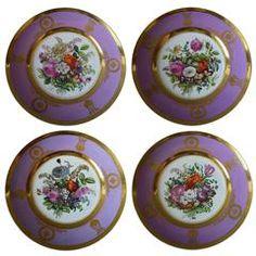 """Set of Four """"Popov"""" Dessert Plates"""