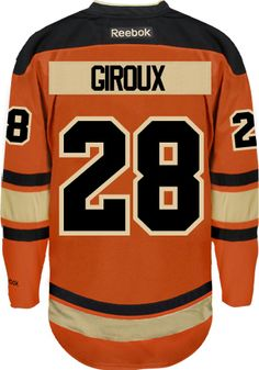 Philadelphia Flyers Claude GIROUX  28  C  Official Third Reebok Premier  Replica CoolHockey. Eric LindrosNhl JerseysHockey PlayersHand ... 61b71e4aa