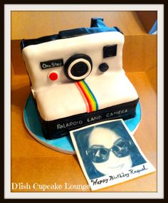 Birthday Cakes - Vintage Polaroid Camera...Say Cheese!  This cake was the perfect gift for our dear friend and photographer.