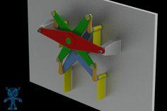 Vertical Paddle Propeller Wheel Mechanism - SOLIDWORKS,STL,STEP / IGES,SketchUp,Parasolid - 3D CAD model - GrabCAD