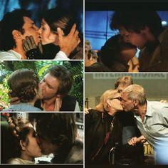 Besos de cine... y buenas noches #hansolo #harrisondford #princesaleia #carriefisher #starwarseverywhere #starwarstheforceawakens #starwars #lucasfilm #cine #beso #kisses #kiss#petons