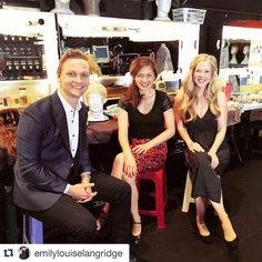 Getting ready to take #lesmisoz to #brisbane very soon!!! Chats with @lukeckennedy & @emilylouiselangridge @lesmisoz #lesmisinbris #gottaloveaslogan  #Repost @emilylouiselangridge with @repostapp.   @patricetipokiarkins and I had a lovely interview with @lukeckennedy for the Great Southeast to air on November 1st in Qld getting very excited to head home now!!  #lesmisoz #cosette #fantine #queensland #gse #thegreatsoutheast by patricetipokiarkins