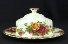 Royal Albert Old Country Roses Round Butter Dish 1962-73 1st Quality VGC