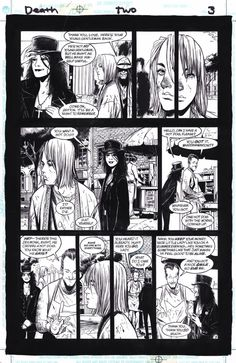 page 3 from Death: The High Cost of Living by Chris Bachalo, Mark Buckingham, Steve Oliff, Neil Gaiman and Todd Klein Comic Book Layout, Comic Books Art, Alex Chung, Vertigo Comics, Collage Illustration, Illustrations, Comic Kunst, Animation Reference, Comic Page