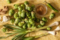 We're Making Brussels Sprouts Kimchi with Green Garlic @CHOW.com