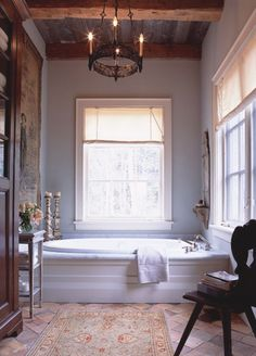 Great details in this bath for my country home...