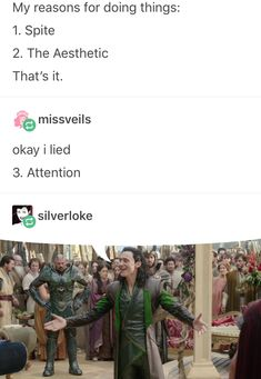 You're Loki!<<< One can only stride for his level of spite, aesthetic and attention grabbing.<<< I don't think anyone can beat his leavel of spite, aesthetic, and yearning for attention Marvel Funny, Marvel Memes, Marvel Dc Comics, Marvel Avengers, Loki Funny, Avengers Humor, Avengers Quotes, Avengers Imagines, Loki Thor