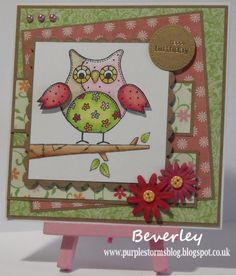 Bev's Little Craft Room: Crafty Calendar challenge card - Things with Wings