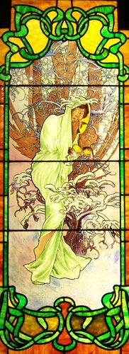 Art Nouveau Stained Glass   by Atelier Teee