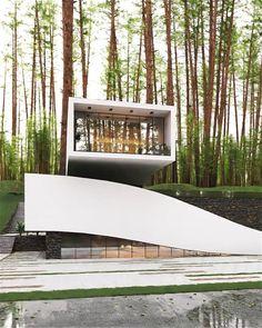 Futuristic Architecture, Facade Architecture, Amazing Architecture, Future House, Module Design, Unique Buildings, Forest House, Building Design, Amazing Photography