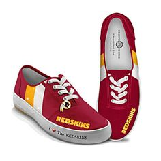 NFL-Licensed Washington Redskins Women's Canvas Sneakers