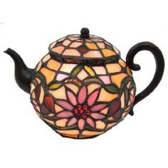Stained glass teapot