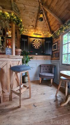 Backyard Pavilion, Backyard Bar, Backyard Sheds, Garden Bar Shed, Summer House Interiors, Outdoor Garden Rooms, Home Bar Rooms, Pub Sheds, Shed Interior