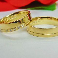 948f88913bb Alianças de Casamento e Noivado em Ouro 18k - WM Jóias Comprar Aliança