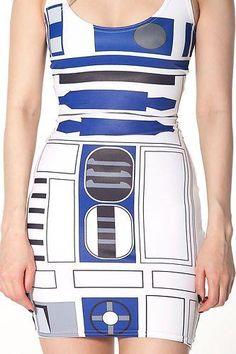New Black Milk Clothing Artoo Dress Star Wars Small DRESS NWT Limited