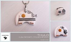 Thulo, the baby mammoth, polymer clay