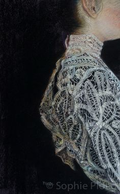 All the latest paintings, portraits, exhibitions and works-in-progress of artist painter Sophie Ploeg. Driving Miss Daisy, Art Hoe Aesthetic, Lace Painting, Lace Art, Renaissance Paintings, Renaissance Art, Arte Sketchbook, Antique Lace, Vintage Lace