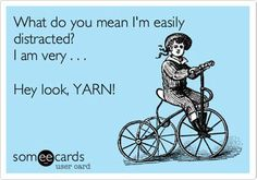 Easily distracted by yarn, I am...