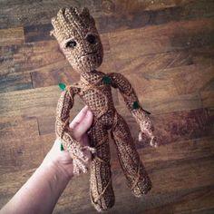 Groot inspired Tree Superhero doll Crochet Amigurumi Pattern