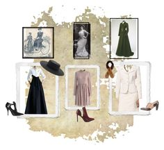"""""""1900s"""" by imanimari ❤ liked on Polyvore featuring Tahari by Arthur S. Levine, Carolina Herrera, Robert Clergerie, Givenchy, Chicwish, Penny Loves Kenny, Forever 21 and vintage"""
