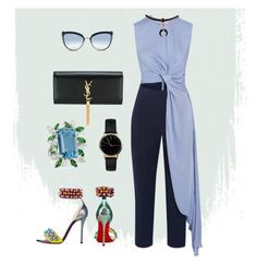 """""""Sky light"""" by iuliastyles ❤ liked on Polyvore featuring Christian Louboutin, Roksanda, Freedom To Exist, Yves Saint Laurent, Alexander Laut and Karl Lagerfeld"""