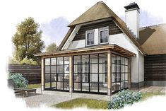 Bungalow Extensions, House Extensions, Pergola, Gazebo, Closed In Porch, Tienda Natural, Sun House, Back Patio, Patio Doors