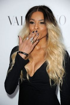 ONE OF THE BEST SHOTS OF HER......CIARA  Inspired Black/Blonde Reverse Ombre/Weft/Weave/Sow In/100 Grams ...