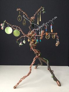 Jewelry Tree - Jewelry Rack - Bonsai Tree Decor - Earring Holder - Jewelry Organizer - Jewelry Display - Functional Decor One of a Kind OOAK (59.99 USD) by SugarHollowDesign
