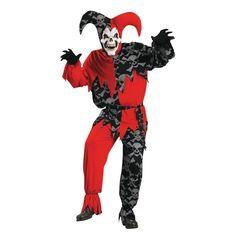 Sinister Jester Standard Halloween Costume for Men
