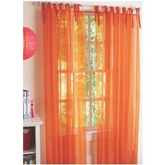 3 Piece Orange Sheer Voile Curtain Panel Set 2 Panels And 1 Scarf By AHF Amazon Dp B009CMLSAI Refcm Sw R Pi SUNurb0VCWT