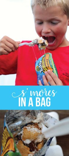 S'mores in a Bag - a fun camping dessert recipe to try out!  www.thirtyhandmadedays.com  #smoresinabag #smores #campingtreat
