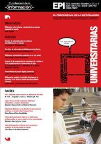 Biblioteteca universitarias: cabalgando la tecnología, siguiendo al usuario. Lluís Anglada.  Noviembre-diciembre 2012, vol. 21, núm. 6  Bibliotecas universitarias