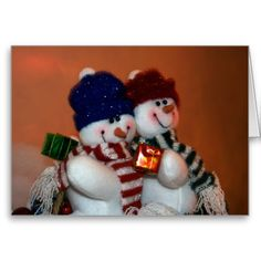 Snowpeople Holiday Card