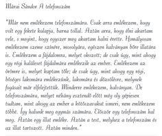 Márai Sándor: A telefonszám