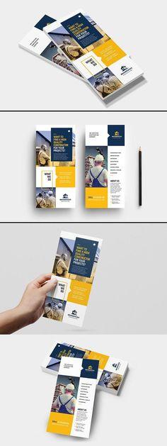 Construction brochure design , bau broschüre d… Leaflet Layout, Leaflet Design, Flyer Layout, Brochure Layout, Design Brochure, Graphic Design Flyer, Web Design, Layout Design, Design Food