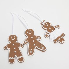Gingerbread doll-shaped decorations (set of 3)