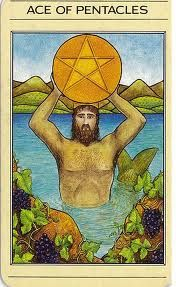 Apple River Tarot Readings - It's Not The Destination, It's The Journey: Ace of Pentacles - Winter Blues Vs Spring Fever Lotus Tarot, Ace Of Pentacles, Fortune Telling Cards, Free Tarot Reading, Pig Farming, Tarot Card Meanings, Oracle Cards, Tarot Decks, Sacred Geometry