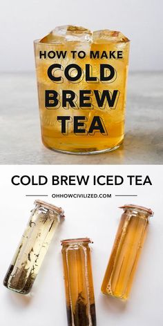 This iced tea recipe from Oh, How Civilized is easy to make at home. The secret to the best iced tea is to cold-brew it. My step-by-step directions on how to cold brew tea at home are amazingly simple and easy. Grab my easy cold brew recipe and find out what makes cold brew the best iced tea! #coldbrew #icedtea #tea #teatime Iced Tea Recipes, Drink Recipes, Making Iced Tea, Side Dishes For Bbq, Chamomile Tea, Halloween Drinks, Green Smoothie Recipes, Tea Sandwiches, Brewing Tea
