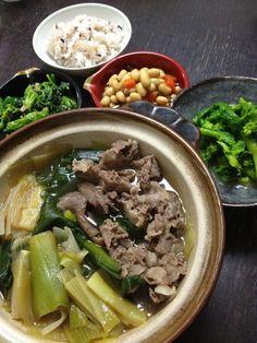 japanese hot pot meal