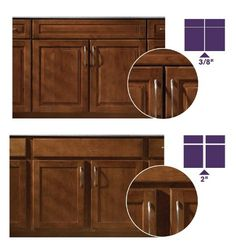 What kind of overlay should you choose for your doors? http://www.kraftmaid.com/learn/choose-right-cabinetry/door-overlays/ #design #kitchen
