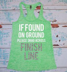Ladie's burnout tank top. Marathon shirt. by strongconfidentYOU, $22.00
