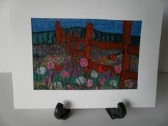The Old Fence Textile Art £12.50