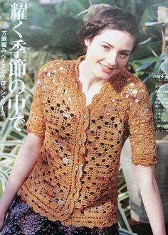 Free Crochet Pattern Jacket Blouse