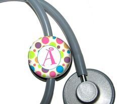 Awesome stethoscope ID tag from abbyloutwo on Etsy <3!