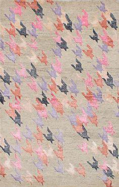 Hand-knotted La Seda Light Khaki Wool/Silk Rug