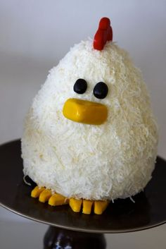 cute chicken cake