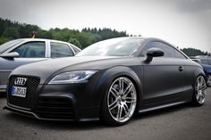 The definition of #Beauty :: Matte Black #Audi TT RS