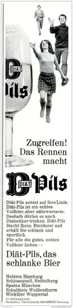 Original-Werbung/ Anzeige 1969 - BIER / DIÄT-PILS - HOLSTEN- SPATEN - WICKÜLER - ca. 55 x 240 mm